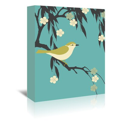 Americanflat 'Bird on Branch' by Ramneek Narang Graphic Art Wrapped on Canvas