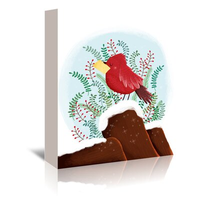 Americanflat 'Christmas Bird' by Advocate Art Graphic Art Wrapped on Canvas