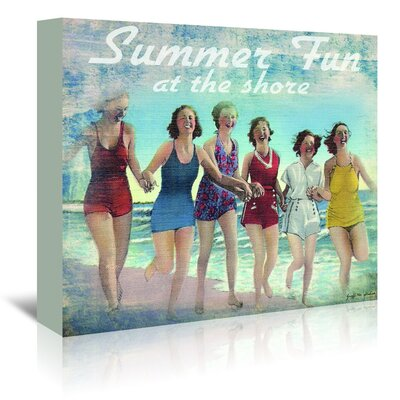 Americanflat 'Summer Fun' by Graffi Tee Studios Vintage Advertisement Wrapped on Canvas