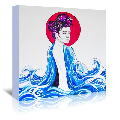 Americanflat 'Yume (c) Marc Allante x Jacq' by Marc Allante Graphic Art Wrapped on Canvas