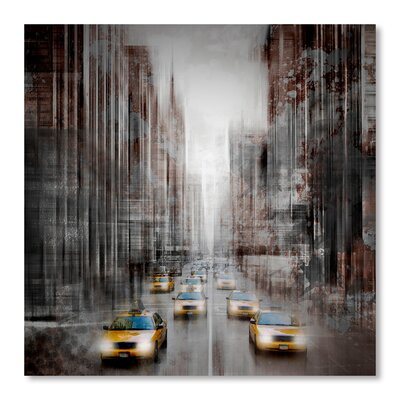 Americanflat 'City Art 5Th Avenue Yellow Cabs' by Melanie Viola Graphic Art