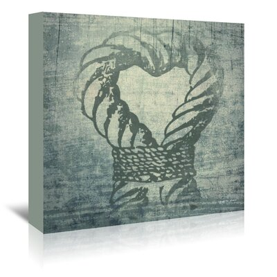 Americanflat Love Nautical Rope' by Graffi Tee Studios Graphic Art Wrapped on Canvas