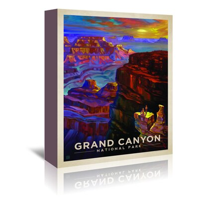 Americanflat 'KC NP Grand Canyon Sunset' by Joel Anderson Vintage Advertisement Wrapped on Canvas