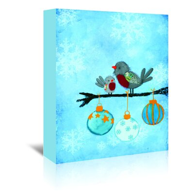 Americanflat 'Birds with Ornaments' by Advocate Art Art Print Wrapped on Canvas