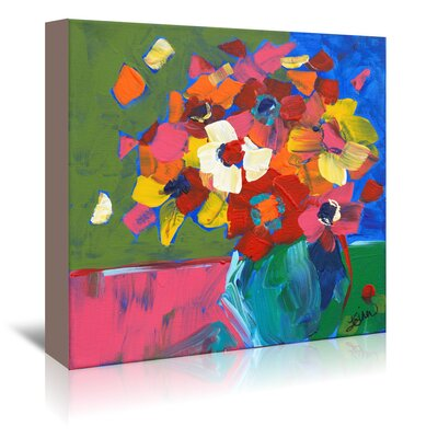 Americanflat 'Abstract Vase' by Terri Einer Art Print Wrapped on Canvas