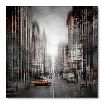 Americanflat 'City Art 5Th Avenue Yellow Cab' by Melanie Viola Graphic Art