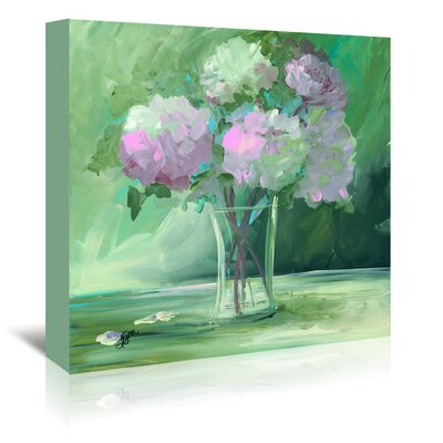 Americanflat 'Pink Peonies' by Terri Einer Art Print Wrapped on Canvas