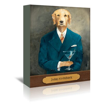 Americanflat 'John Steinbark with Plaque' by Wild Apple Art Print Wrapped on Canvas