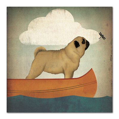 Americanflat 'Pug Canoe' by Wild Apple Graphic Art