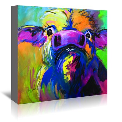 Americanflat 'Colorful Cow' by Terri Einer Art Print Wrapped on Canvas