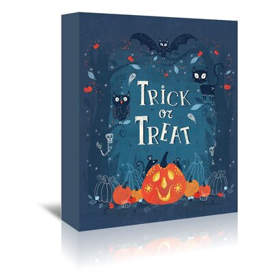 Americanflat 'Trick or Treat' by Advocate Art Graphic Art Wrapped on Canvas