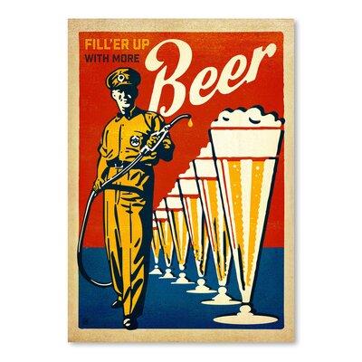 Americanflat 'Beer Filler Up' by Joel Anderson Vintage Advertisement
