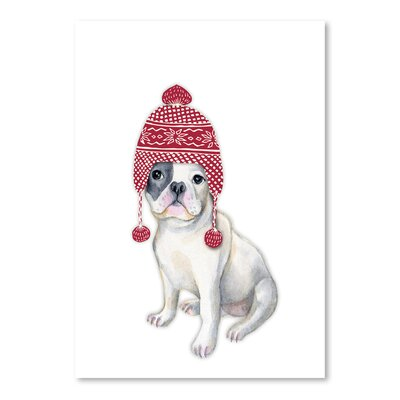 Americanflat 'Dog in Red Winter Hat' by Kristin Van Handel Graphic Art