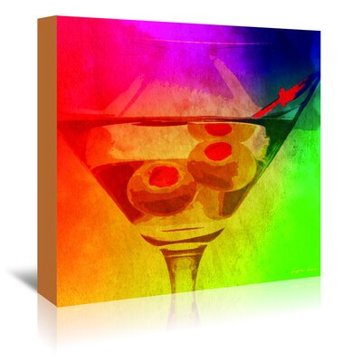Americanflat Dirty Rainbow' by Graffi Tee Studios Graphic Art Wrapped on Canvas