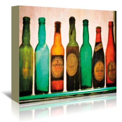 Americanflat Vintage Guinness Bottles' by Graffi Tee Studios Graphic Art Wrapped on Canvas