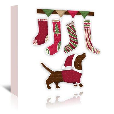 Americanflat Santa Dog2' by Kristin Van Handel Art Print Wrapped on Canvas