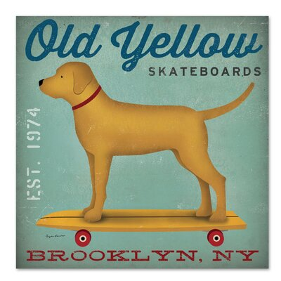 Americanflat 'Old Yellow Skateboards' by Wild Apple Vintage Advertisement