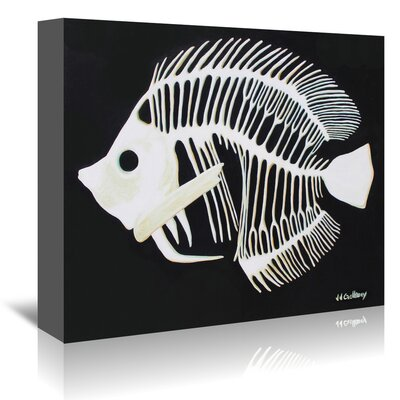 Americanflat 'Butterfly Fish Bones' by JJ Galloway Art Print Wrapped on Canvas