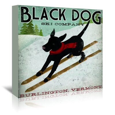 Americanflat 'Black Dog Ski' by Wild Apple Vintage Advertisement Wrapped on Canvas