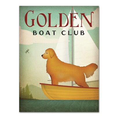 Americanflat Golden Boat Club' by Wild Apple Vintage Advertisement