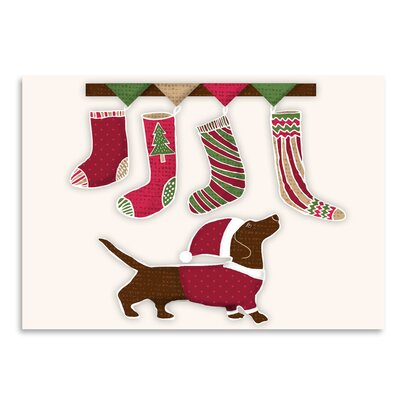 Americanflat 'Santa Dog1' by Kristin Van Handel Graphic Art