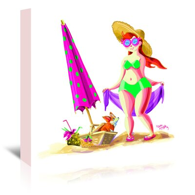 Americanflat Beach babe' by Cara Kozik Art Print Wrapped on Canvas