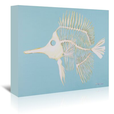 Americanflat 'Longnosed Butterfly Fish Bones' by JJ Galloway Art Print Wrapped on Canvas