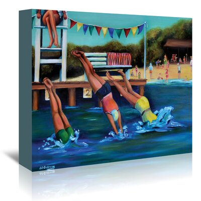 Americanflat 'Round Bay Water Carnival' by JJ Galloway Art Print Wrapped on Canvas