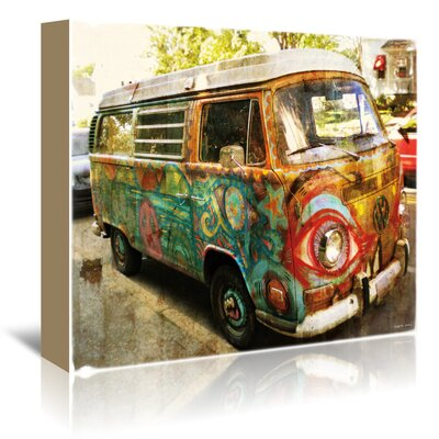 Americanflat Surf Bus' by Graffi Tee Studios Photographic Print Wrapped on Canvas