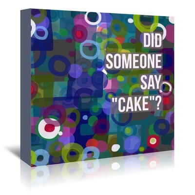 Americanflat 'Say Cake 6' by Marian Nixon Graphic Art Wrapped on Canvas