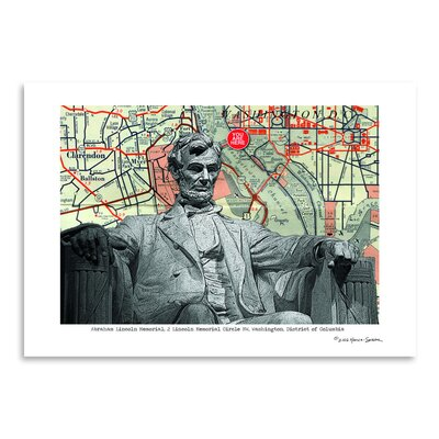 Americanflat 'Abraham Lincoln Memorial Washington Dc' by Lyn Nance Sasser and Stephen Sasser Graphic Art