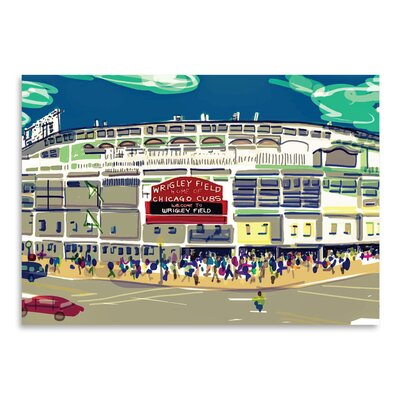Americanflat 'Wrigley Ext' by Marian Nixon Graphic Art