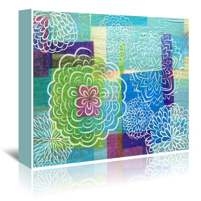Americanflat 'White Garden on Wood' by Marian Nixon Graphic Art Wrapped on Canvas