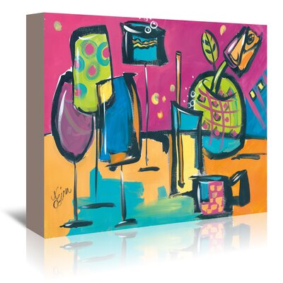 Americanflat 'Happy Hour I' by Terri Einer Art Print Wrapped on Canvas