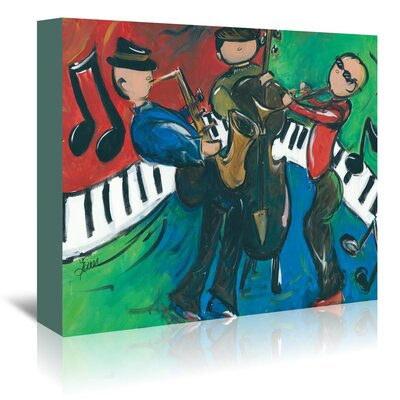 Americanflat Jazz Ensemble' by Terri Einer Art Print Wrapped on Canvas