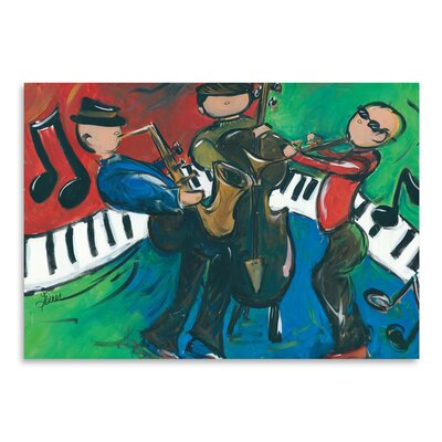Americanflat 'Jazz Ensemble' by Terri Einer Art Print