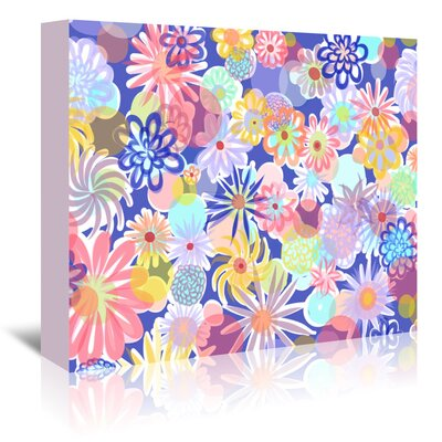 Americanflat 'Floral Blues-1' by Marian Nixon Graphic Art Wrapped on Canvas
