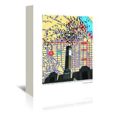 Americanflat 'Chapman School Chimney Swifts Portland' by Lyn Nance Sasser and Stephen Sasser Graphic Art Wrapped on Canvas