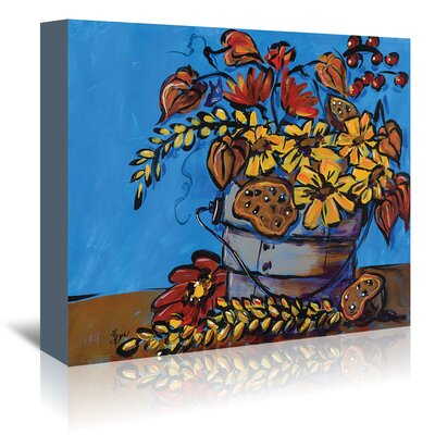 Americanflat 'Fall Flowers' by Terri Einer Art Print Wrapped on Canvas