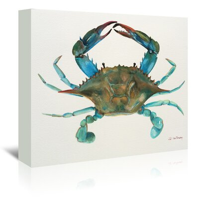 Americanflat 'Blue Crab' by JJ Galloway Art Print Wrapped on Canvas