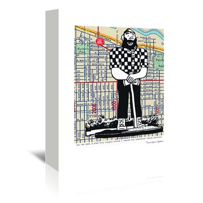 Americanflat 'Paul Bunyan Statue Portland' by Lyn Nance Sasser and Stephen Sasser Graphic Art Wrapped on Canvas