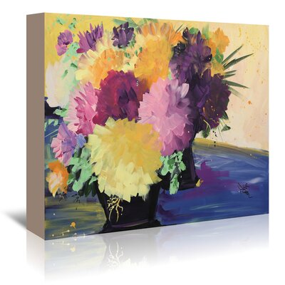 Americanflat 'Flowers' by Terri Einer Art Print Wrapped on Canvas