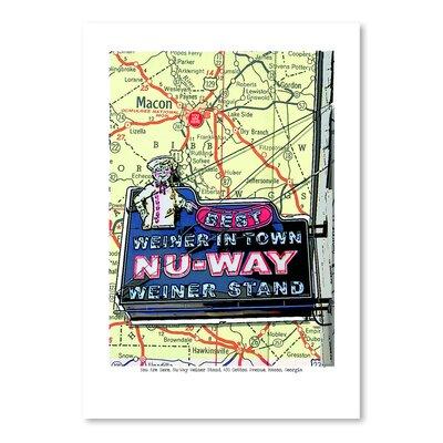 Americanflat Nu Way Weiner Macon' by Lyn Nance Sasser Graphic Art