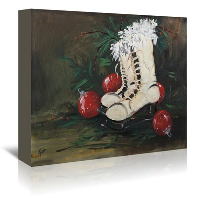 Americanflat Ice Skates' by Terri Einer Art Print Wrapped on Canvas