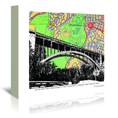 Americanflat 'Vista Avenue Bridge Portland' by Lyn Nance Sasser and Stephen Sasser Graphic Art Wrapped on Canvas