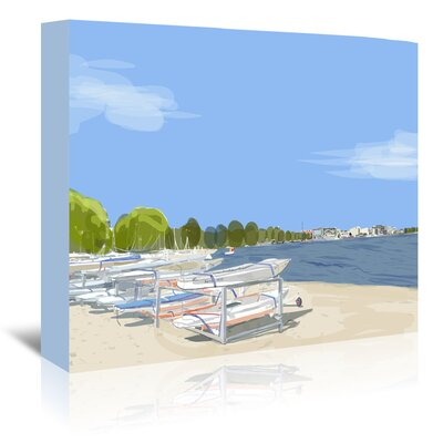 Americanflat 'Dempster Beach Clouds' by Marian Nixon Graphic Art Wrapped on Canvas