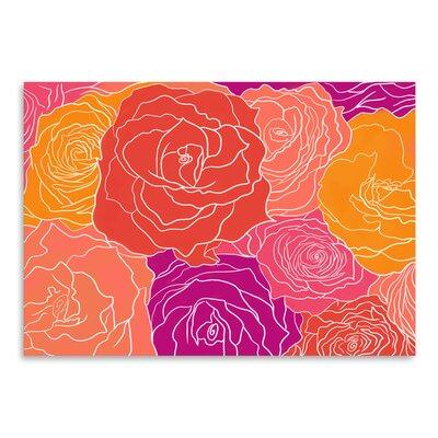 Americanflat Roses' by Ramneek Narang Graphic Art
