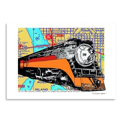 Americanflat 'Oregon Rail Heritage Center' by Lyn Nance Sasser and Stephen Sasser Graphic Art