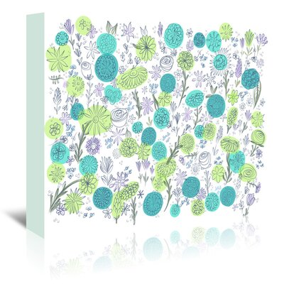Americanflat 'Floral Blues' by Marian Nixon Graphic Art Wrapped on Canvas