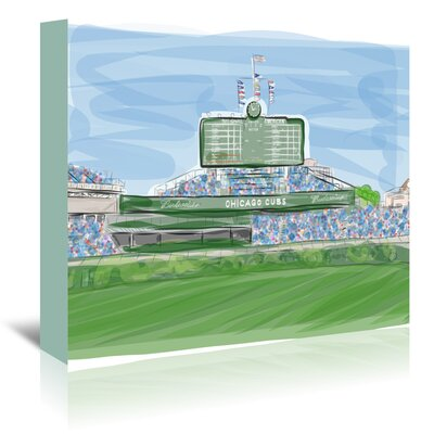 Americanflat Wrigley 1' by Marian Nixon Art Print Wrapped on Canvas